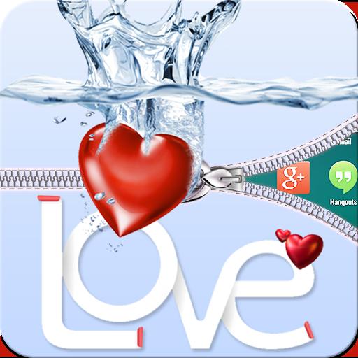 個人化App|ラブハートジッパー画面のロック LOGO-3C達人阿輝的APP