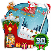 3d merry christmas happy new year 2018 theme