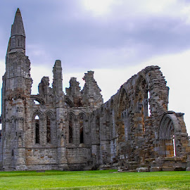 Whitby Abbey by Andrew Lancaster - Buildings & Architecture Public & Historical ( abbey, beautiful, ruins, whitby, building, landscape, stone )