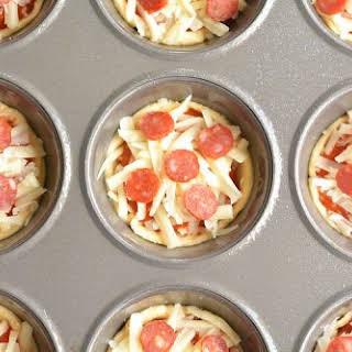 Deep Dish Mini Pizzas.