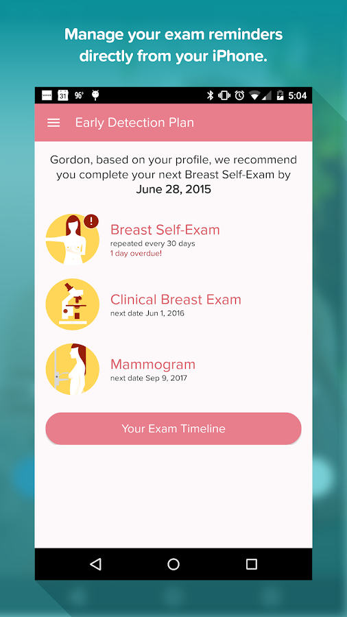 Early Detection Plan- screenshot