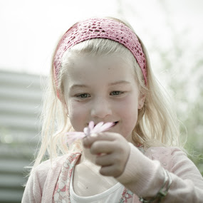 Fascination. by Greg Rowe - People Family ( child, girl, flower )