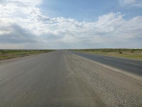 Photo: Nově budovaná dálnice Aral - Almata.