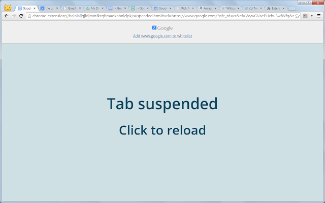 The Great Suspender Chrome Extension