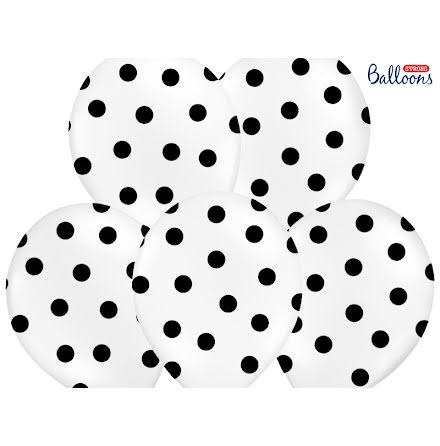 Ballonger - Vita med svarta prickar