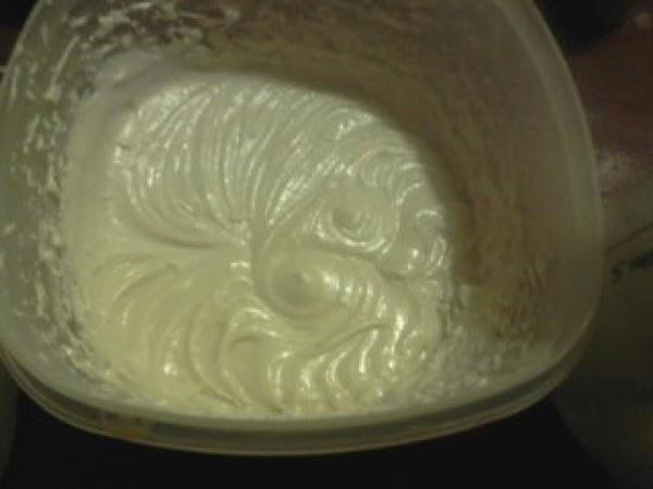 Alternate flour mix with ¾ c. milk into the creamed sugar mixture.