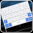 White Blue System Keyboard icon