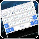 White Blue System Keyboard