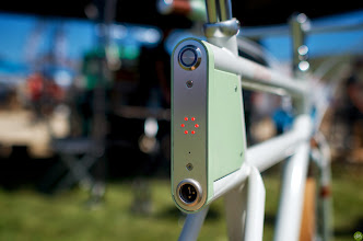 Photo: Spring Break for the Bike Industry with racing, rides, and an expo. Faraday Battery pack.