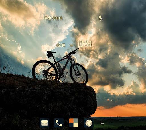 自転車の旅 壁紙きせかえ