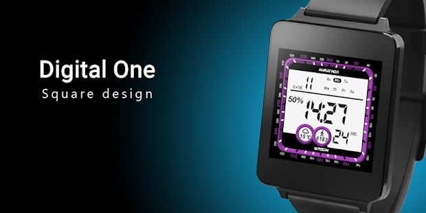 Digital One Watch Face - náhled
