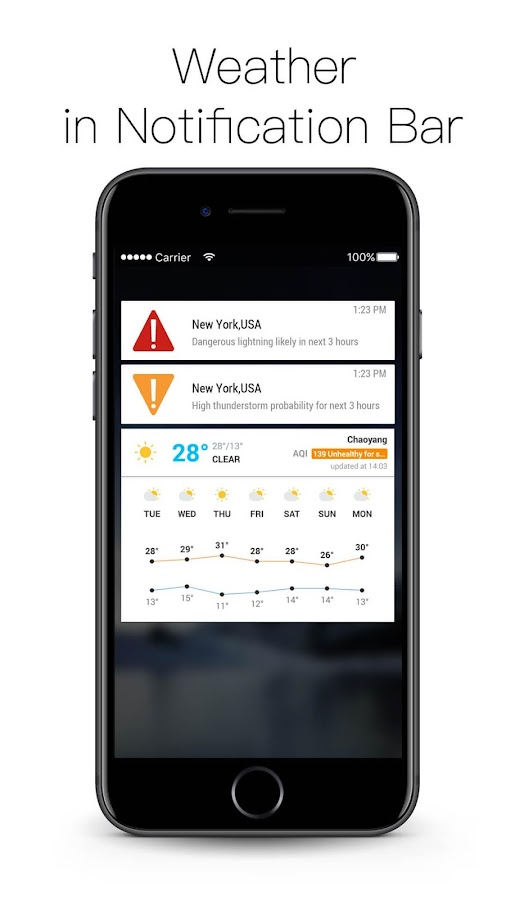Daily weather update&alerts- screenshot