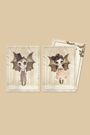 Mrs Mighetto 2-pack kort Boo Twins