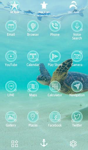 Sea Turtle's Swim +HOME Theme 1.0.0 Windows u7528 3