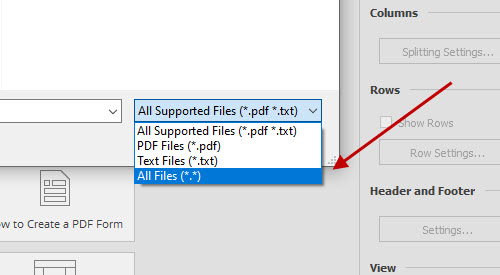 Opening a JPG file in Able2Extract Professional