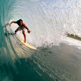 Alik barrel time Keramas by Trevor Murphy - Sports & Fitness Surfing