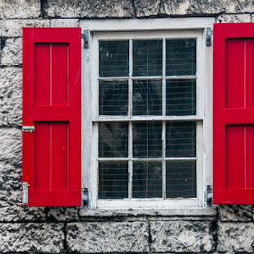 Red Shutters by Jeff Yarbrough - Buildings & Architecture Homes ( nausa, wonder, dcl )