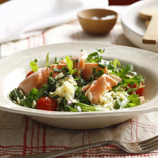 Poached Salmon and Orzo Salad