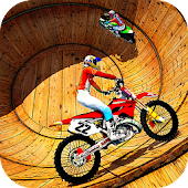 Well of Death Bike Stunt Drive