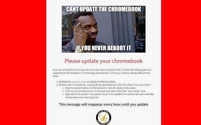 Chromebook Update Nag Screen
