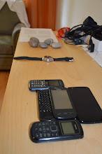 Photo: Stone age to electronics age.