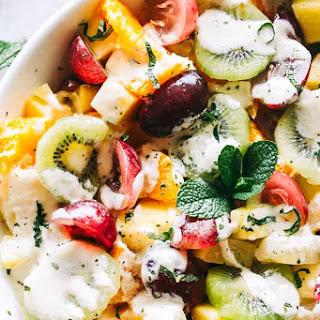 Easy Fruit Salad with Honey Orange Yogurt Dressing.