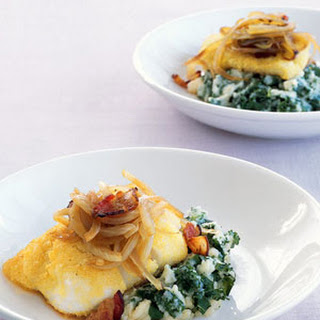 Roast Cod with Bacon, Potatoes, and Kale