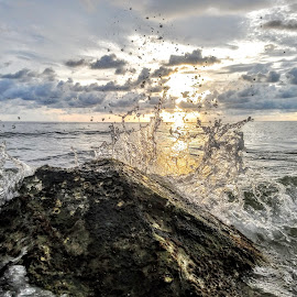 The western gulf at sunset  Through the looking glass  by Jeffrey Lee - Nature Up Close Water ( the western gulf at sunset  through the looking glass  )