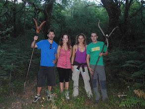 Photo: O grupo que encontrou a Roque, a baliza premiada
