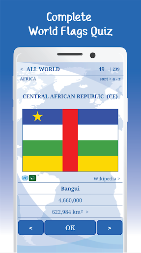 The Flags of the World u2013 Nations Geo Flags Quiz 5.1 screenshots 1