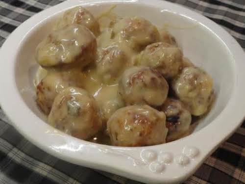 "French Onion Meatballs ""I made these on New Year's Eve and they were..."