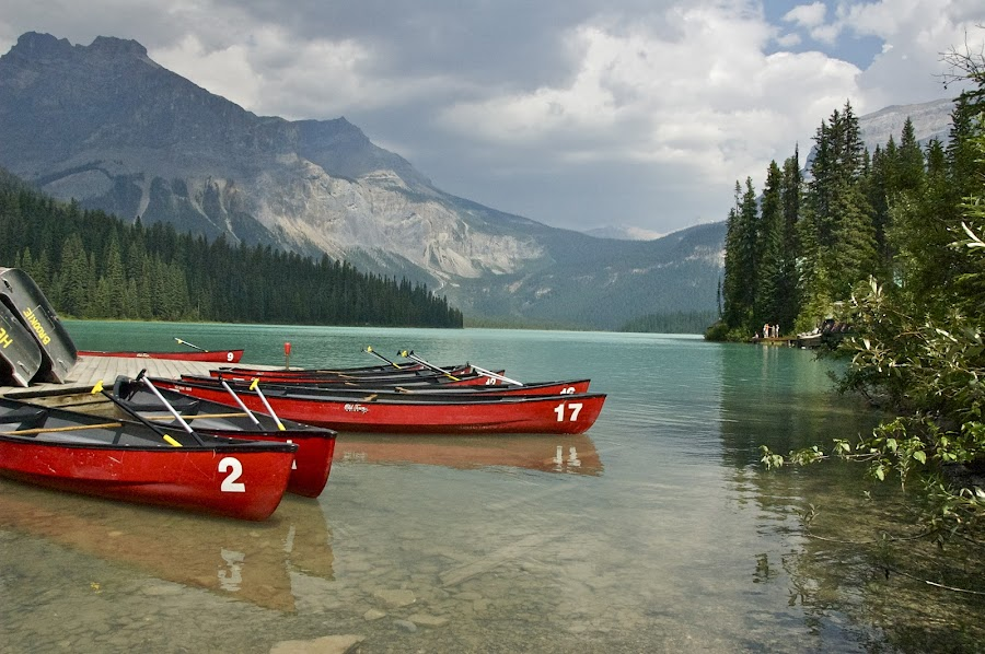 Lake Emerald Canada by Rob Rosenbrand - Landscapes Waterscapes