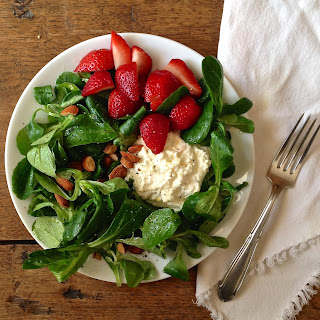 Simple Salad with Honey-Lemon Ricotta
