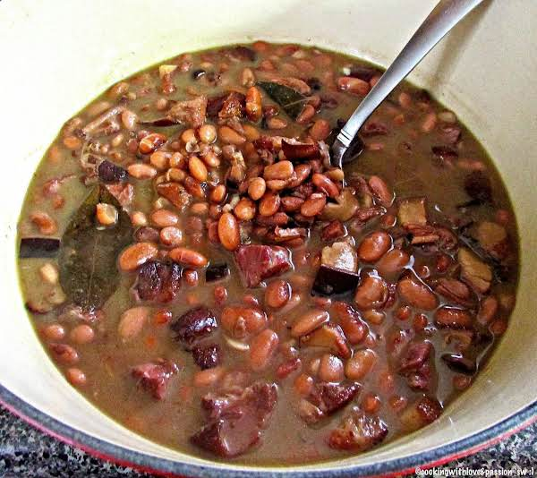 Bourbon Ham Hock Pinto Beans Just A Pinch Recipes
