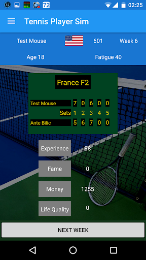 Tennis Player Sim beta