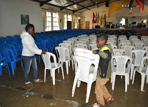 Photo: Setting up 700 chairs.