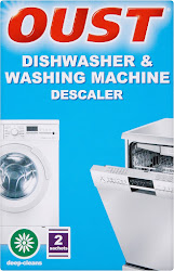 Oust Dishwasher & Washing Machine Descaler - 2 x 75g Sachets