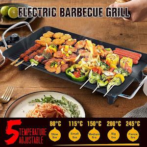Grill electric cu 2 suprafete, 1300W, termostat