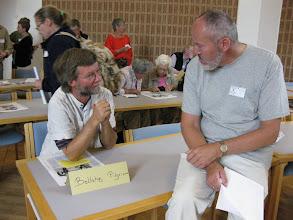 Photo: Træfpunkter i ottekanten, hvor der var orientering om forskellige tiltag - Bellahøj pilgrimsgruppe.