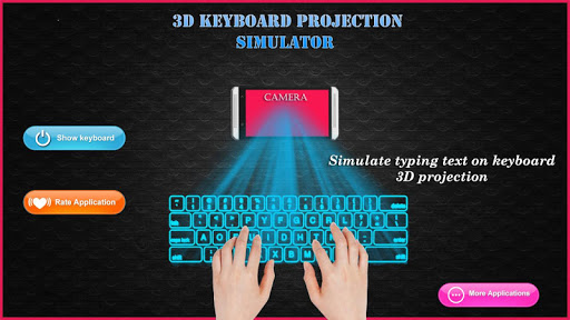 keyboard hologram simulator 3D