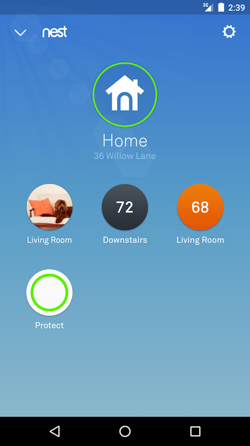 Screenshots of Nest for Android