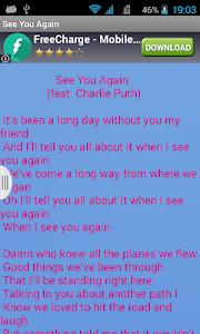 Wiz khalifa See You Again Free screenshot 1