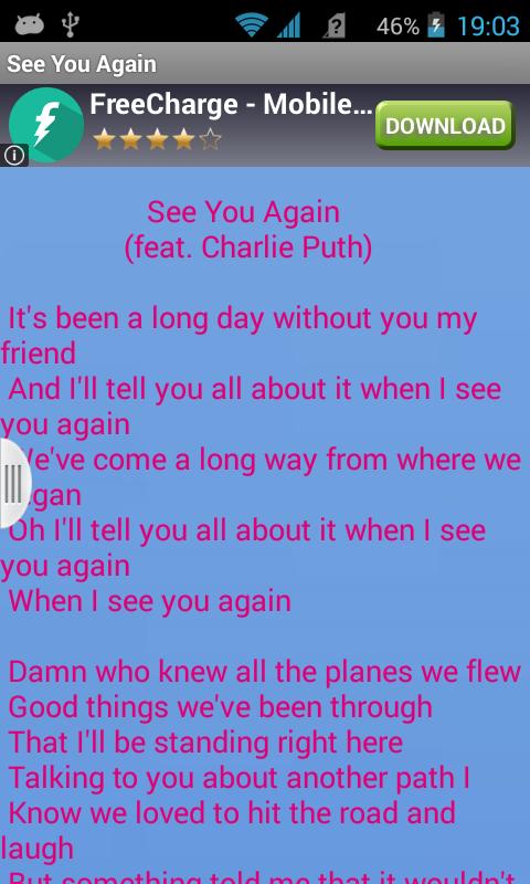 See You Again Lyrics Full Video Wiz Khalifa Ft Charlie Puth