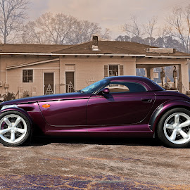 Prowler by JEFFREY LORBER - Transportation Automobiles ( rust 'n chrome, dodge, prowler, purple, lorberphoto )