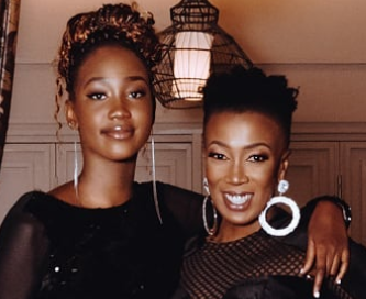 Wahu shares the good old days with daughter Tumi