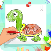 Coloring And Learning Animals - Drawing Book