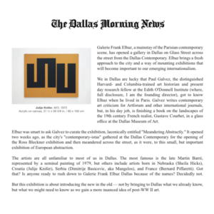 dallas morning news abstract meandering