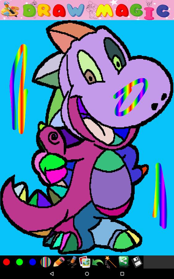 Coloring for Kids - Dinosaur - screenshot