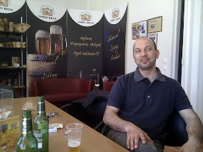 Photo: Claudio, the head brewer is in cheerfull mood and we exchange a lot of beer and non-beer related stories, sharing his beer