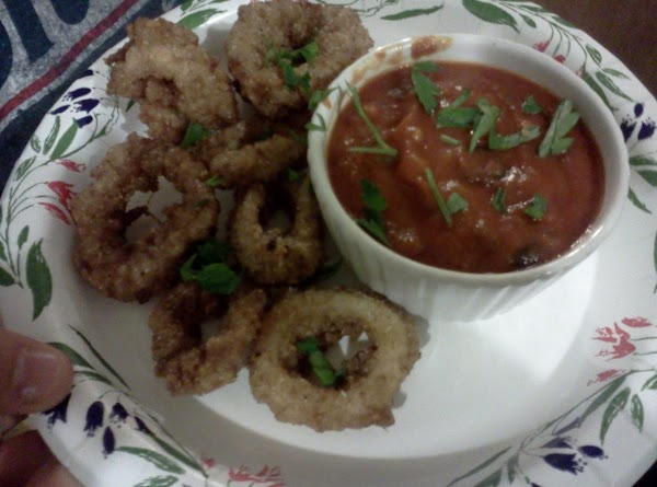 Fried Calamari  With Two Dipping Sauces Recipe